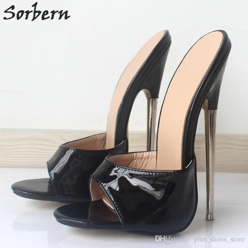 New Women Summer Sandals Slides Extreme Metal High Heel