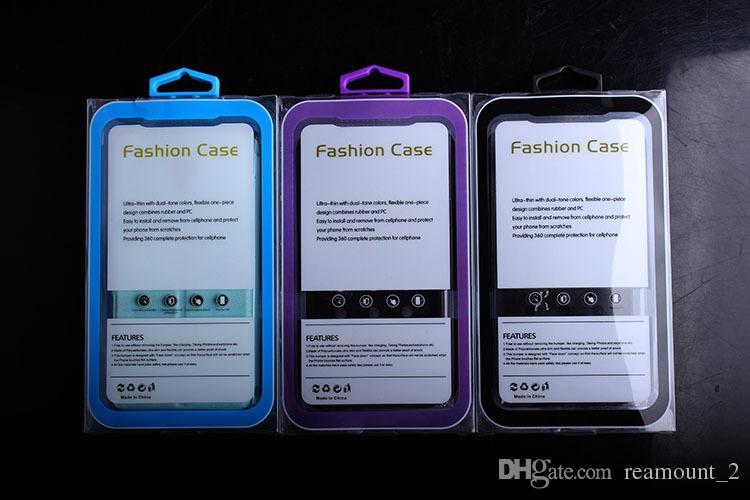 Großhandels-hochwertiger transparenter PVC-Blasen-Verpackenkasten mit speziellem Aufhänger für iphone 7 7plus für Google-Pixel-Kasten-Paket