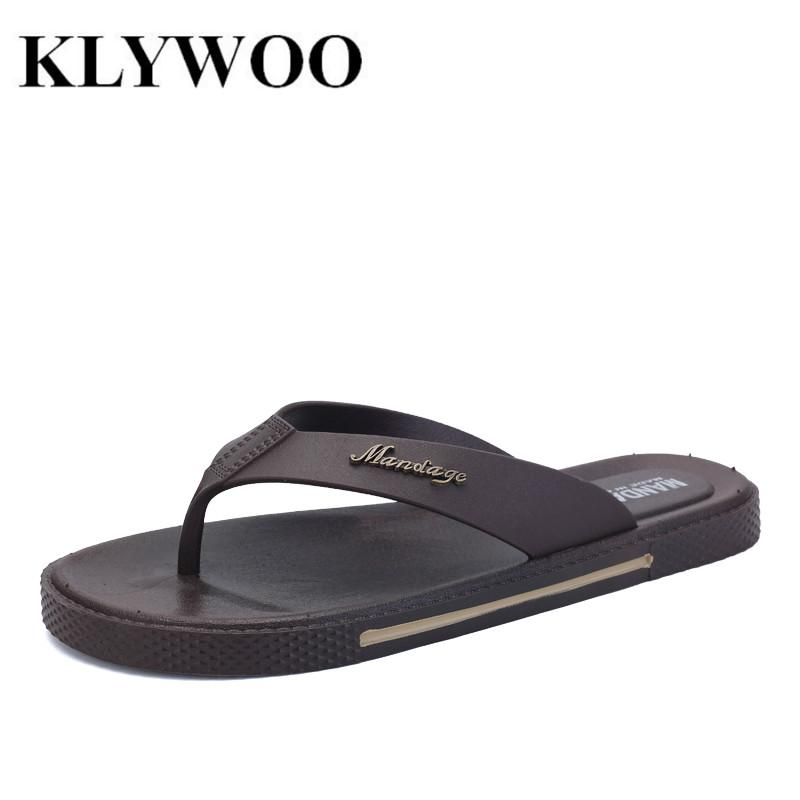 8f053e683a4f Wholesale Men Sandals Fashion Causal Shoes Breathable New Summer Street Fashion  Leather Flat Sandals Mens Flip Flops Beach Slippers Brown Buy Shoes Online  ...