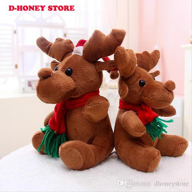 Christmas Kristoff Reindeer Sven Stuffed Animals Plush Toys 20CM Baby Music Brinquedo Cute Soft Toys Children Christmas Gift