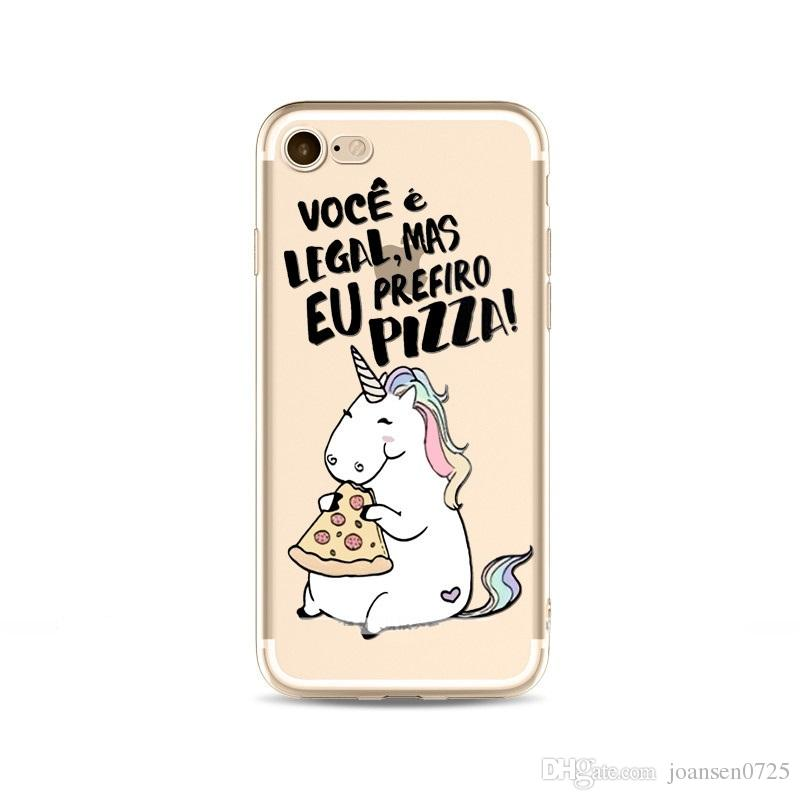 Soft TPU Cartoon Unicorn Painted Phone Case For iphone X 6 6S 7 8 Plus 5S SE Samsung Galaxy S7 Edge S8 S9 Plus Note 8 Back Silicone Cover