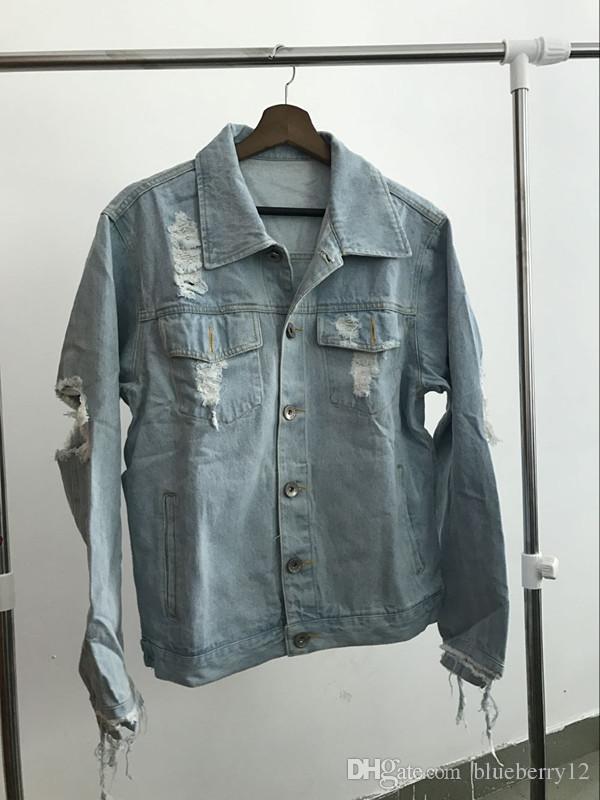 Heiße Verkäufe KANYE West Jacke Album PABLO Denim Jacke waschen tun alt schädlich yeezus Big gebrochen Suprme Affen Männer Jacken