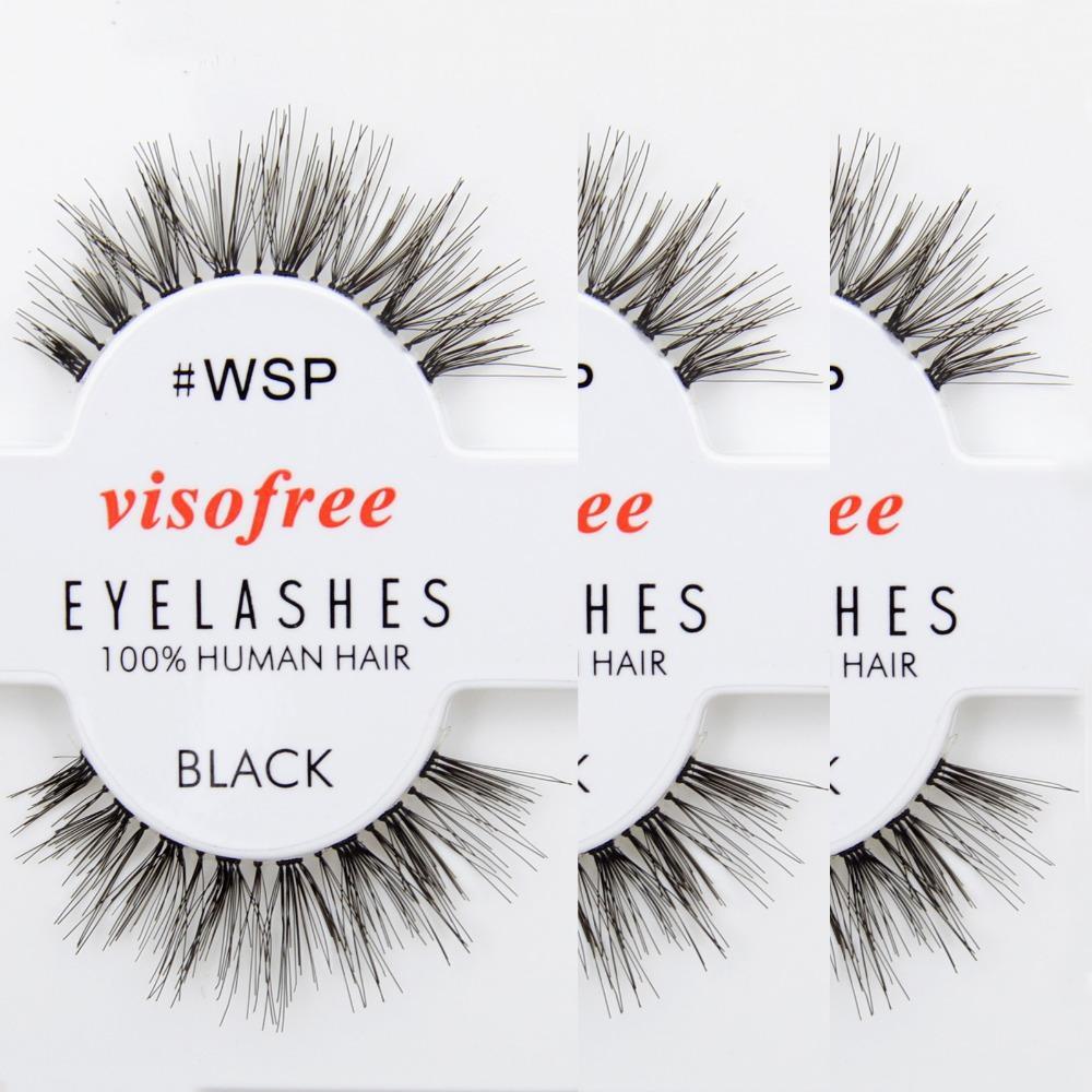 b5c56dafa85 Wholesale Eyelashes WSP Lashes 100% Human Hair Handmade False Eyelashes  Messy Nature Eye Lashes Maquiagem Cilios By Visofree Kiss Eyelashes Kiss  Lashes From ...