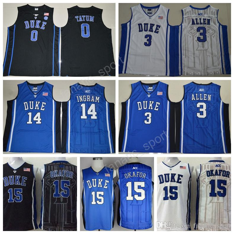 ff58cbe5804 ... 2017 Duke Blue Devils Basketball 15 Jahlil Okafor College Jerseys Man 3  Grayson Allen 14 Brandon ...