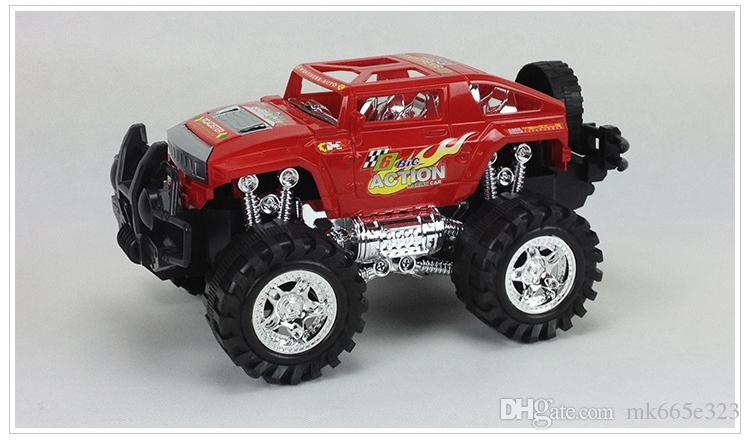 Friction Powered Off-Road Vehicle Cross-country Race SUV Inertia Toy Car Children Exquisite Realistic Toys Jeep Models for Kids