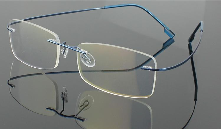 12 / pc's / partij Nieuwe Mode Mannen / Damesrandloze Brilmonturen Memory Titanium Optische Frames Veel kleuren