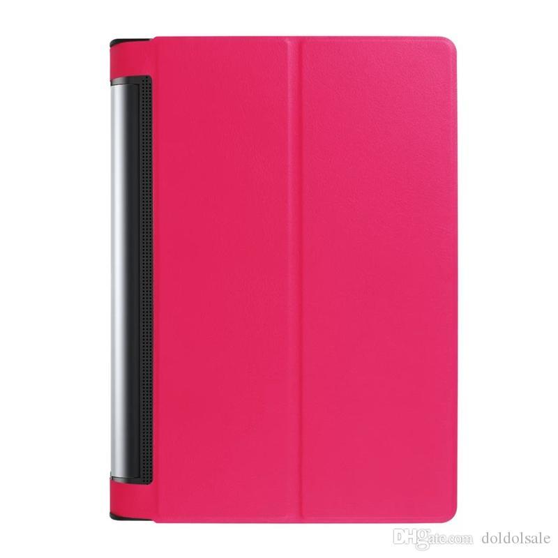 슬림은 레노버의 요가 TAB 3 PRO 10.1 X90L / F 요가 TAB 3 플러스 10.1 YT-X703 10.1 인치 태블릿 + 스타일러스 펜을위한 PU 가죽 케이스 커버 플립