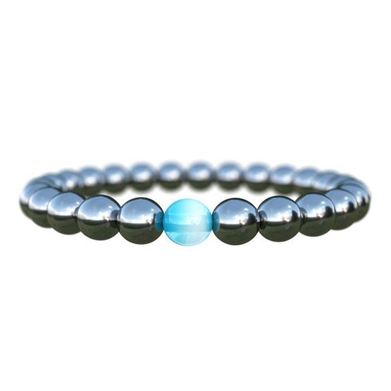 Мода Унисекс 8 мм Натуральная Лава Камень бисеров Нить Браслеты Браслеты Счастливые Ювелирные Изделия Для Женщин Мужчины Очарование Yoga
