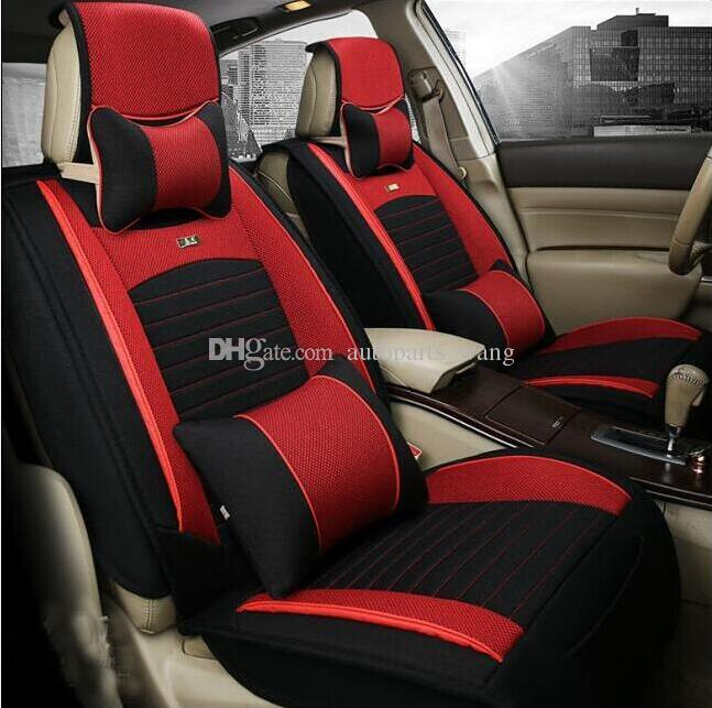 car seat covers black red bicolor classic toyota corolla honda camry buick regal universal seats. Black Bedroom Furniture Sets. Home Design Ideas