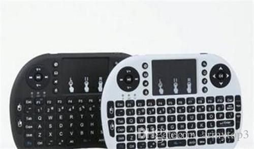 Mini clavier portable Rii Mini i8 Claviers sans fil Fly Air Mouse Télécommande multimédia Contrôle Touchpad Ordinateur de poche Android