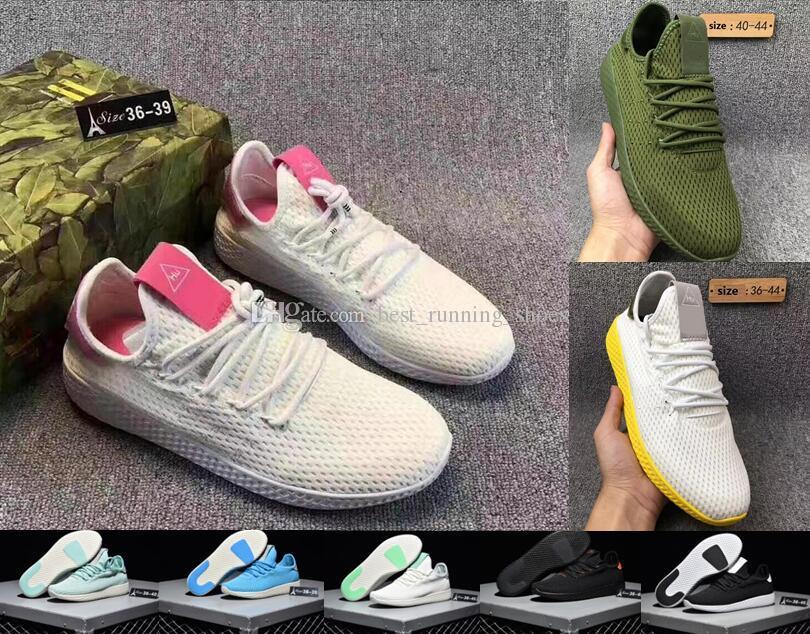 5bb79bc67 Originals Pharrell Williams Tennis Hu Running Shoes Fashion Pharrell  Williams Summers Racer Sneaker For Women Men Size 5 11 Winter Running Shoes  White ...
