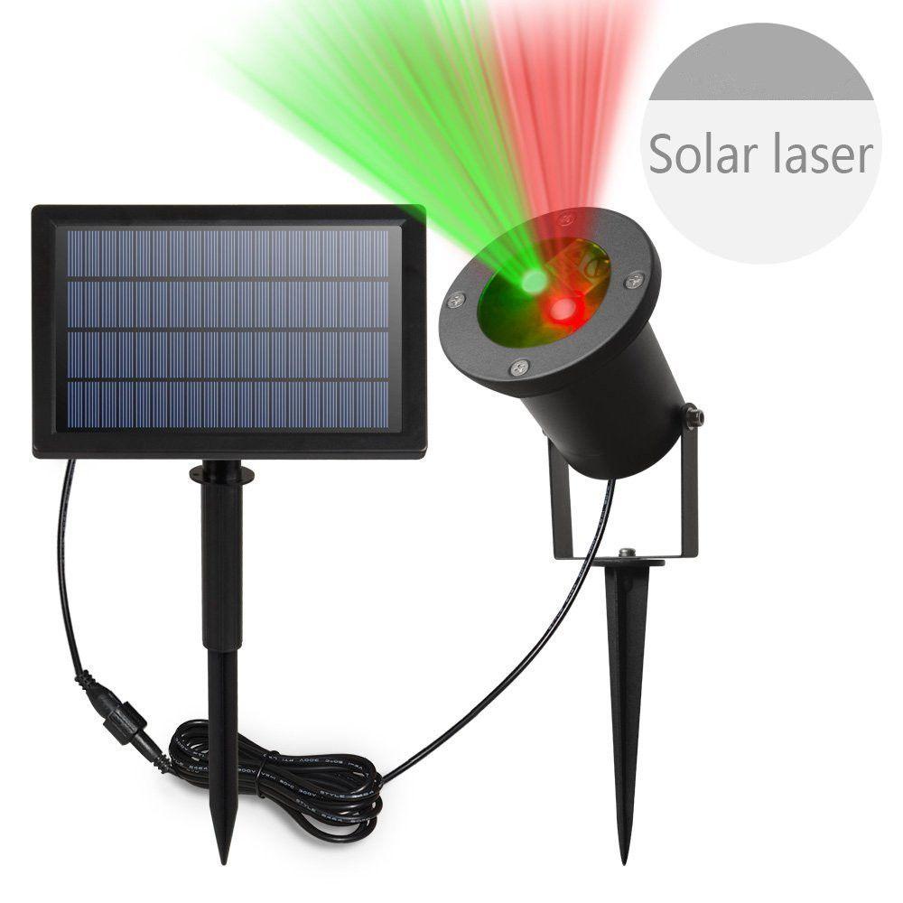2017 Solar Powered Laser Christmas Laser Star Night Light ...
