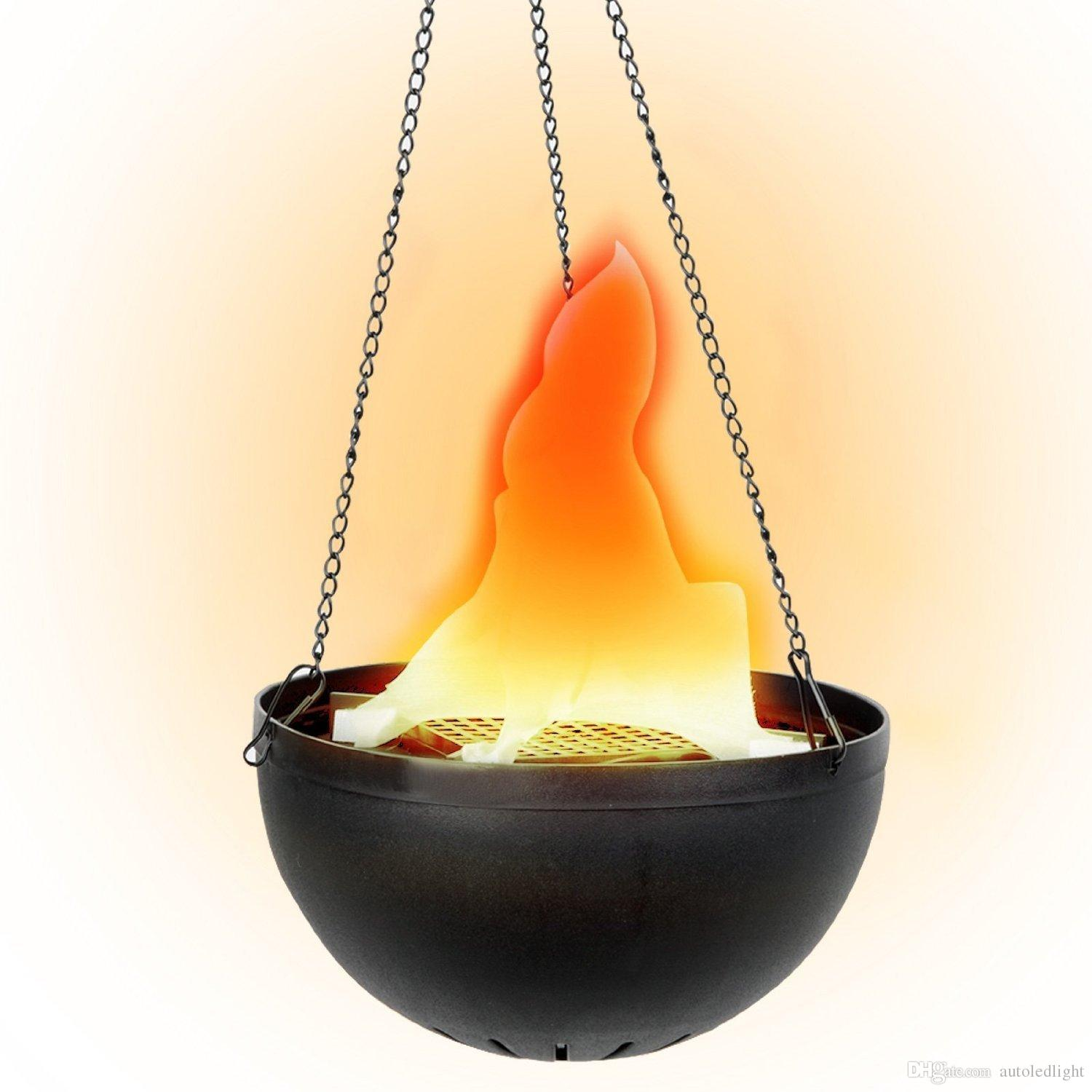 2018 fake fire flame light hanging bowl style led electric for Hanging fire bowl