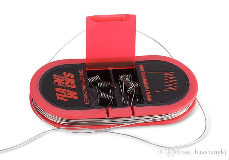 Original auténtico Flashwicks hilo de calefacción 0.09 ohm. Algodón Alambre de resistencia de cinta Ultra baja resistencia DIY e-cigs VS VCC F5 ALGODÓN BACON