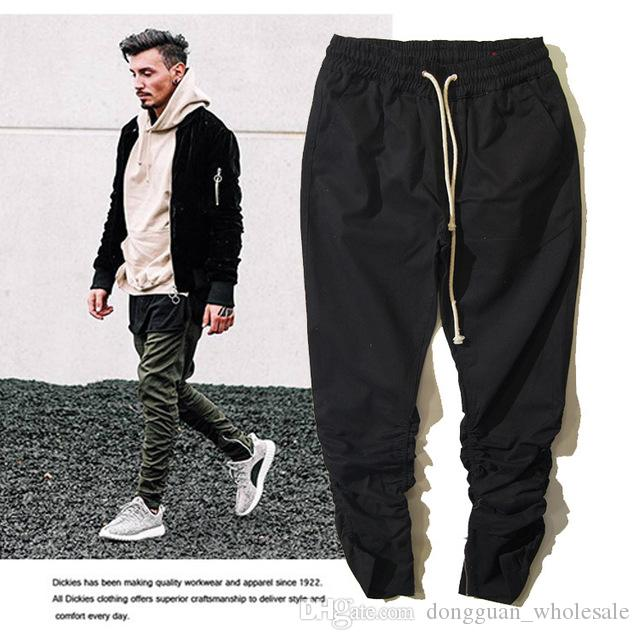 8b1650b820c52 2019 Kanye Y E Ezy Men Pants Hip Hop Skateboard High Quality Tour Trousers  Y Ee Zy West Harem Cargo Joggers Military Army Y Ee Zus Pants From ...