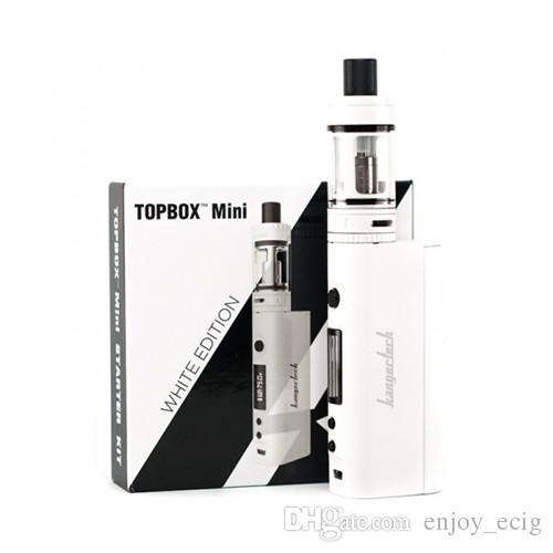 Kanger Topbox Mini TC Starter Kit com KBOX 75 W Caixa Top Top Enchimento Toptank Atomizadores Mini também topbox nano kit DHL livre