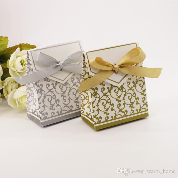 Wedding Candy Box, Gold And Silver Love Small Gift Bag, Golden Age ...