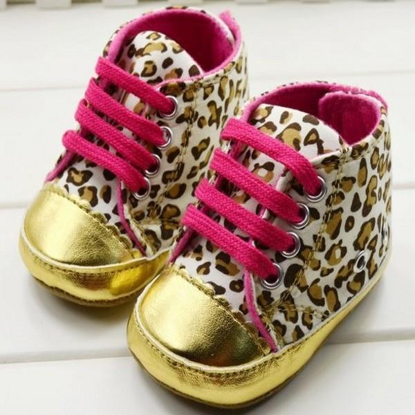 Baby Girl Infant Toddler Leopard Gold Crib Shoes Walking Sneaker Sneaker  Brand Shoe Label Sneakers Shoes Women Online with  59.43 Pair on  Paradise02 s Store ... 7a0546105