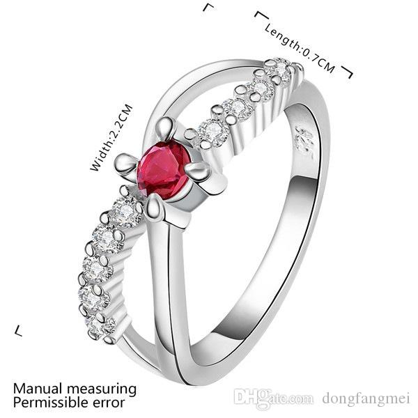 best gift Color stone 8 words women's sterling silver jewelry ring DR460,popular White gemstone 925 silver finger rings Wedding Rings