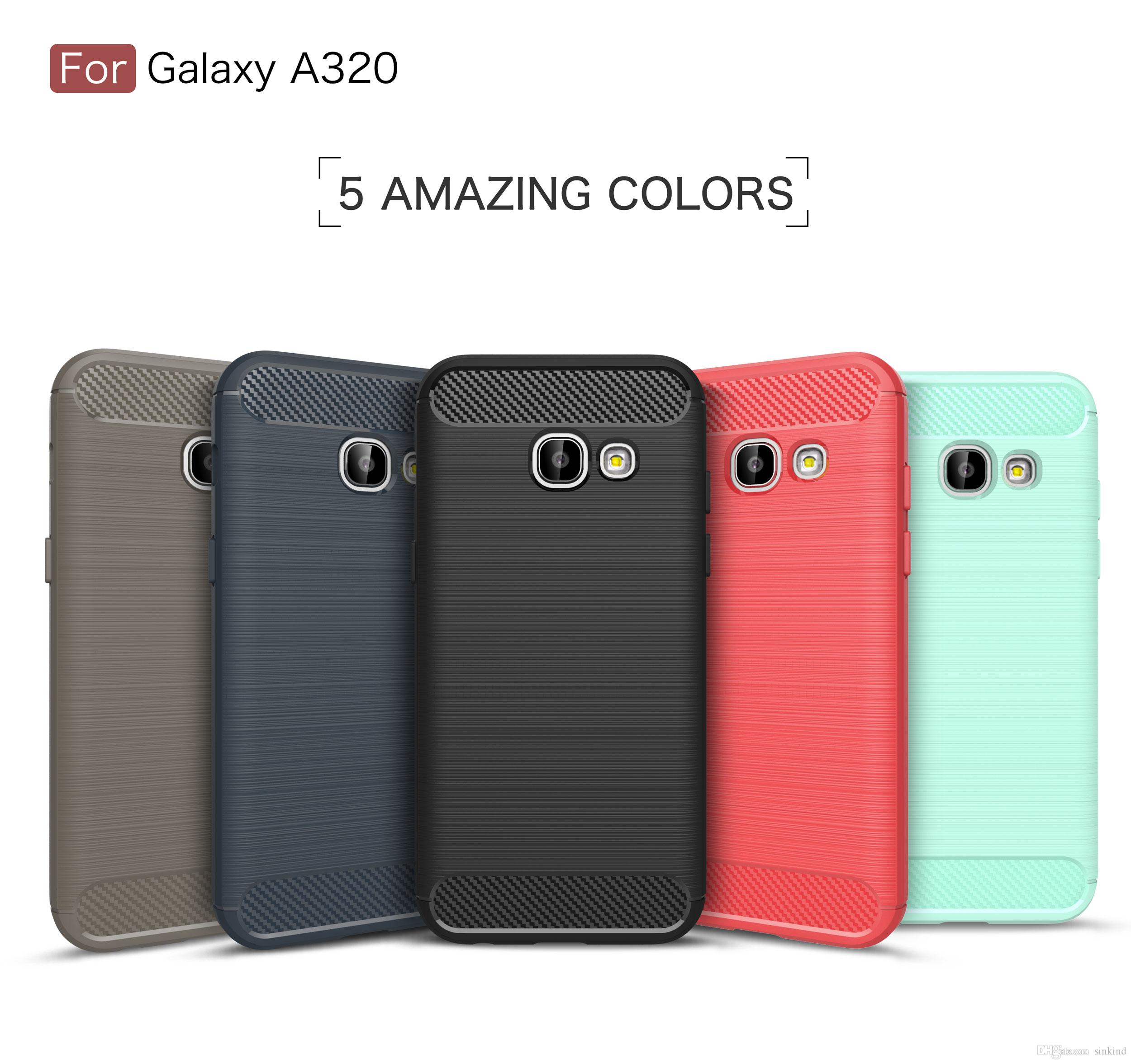 For Samsung Galaxy A3 2017 Case Tpu Cover Silicone Soft Carbon Fiber Full Cover For Galaxy A3 2017 A320 Case Design Cell Phone Case Heavy Duty Cell Phone