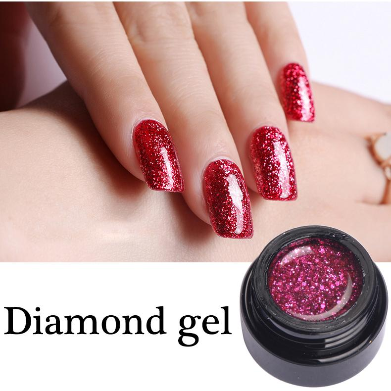 Newest Style Diamond Nail Gel Polish Led Lamp Soak Off Dazzling ...