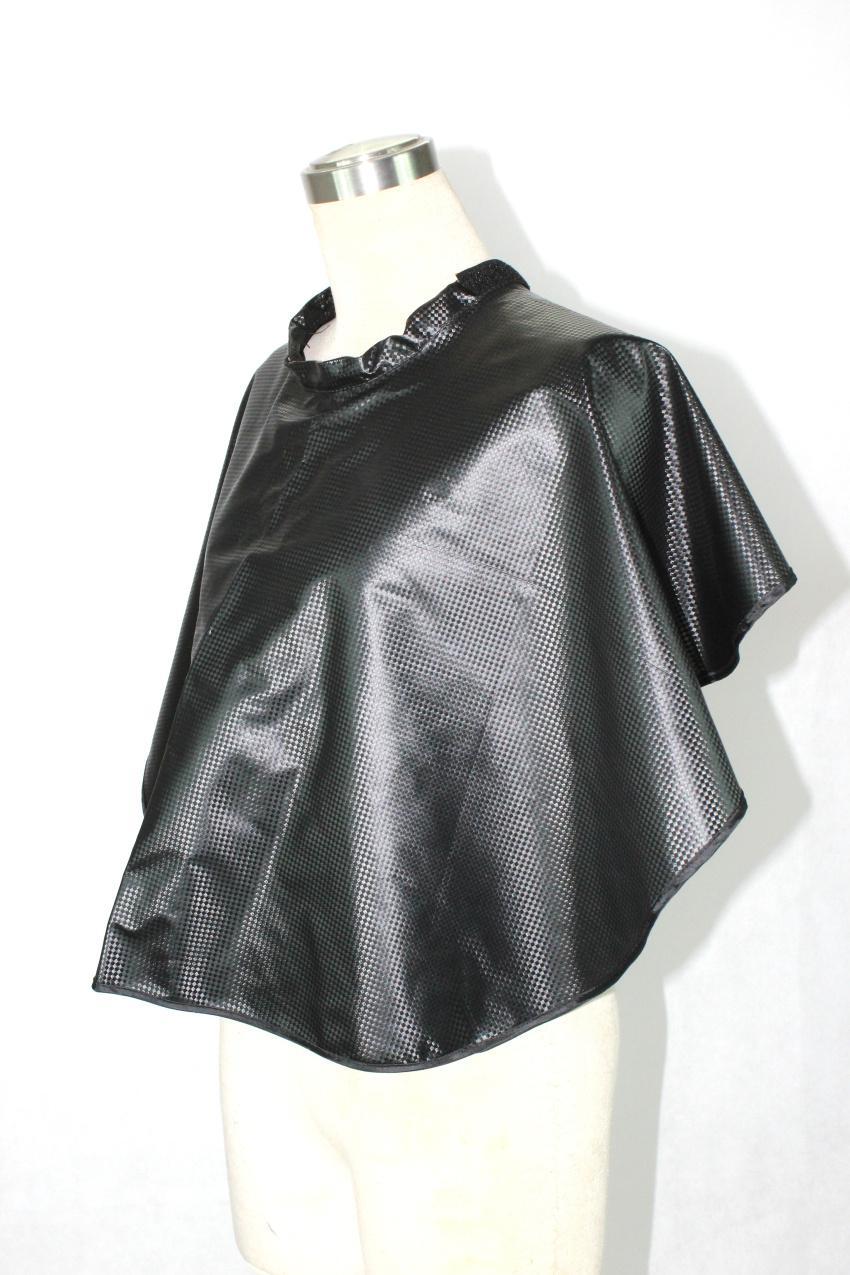 Più nuovo Impermeabile Anti-Chimico Capelli Shampoo Scialle Colorazione dei capelli professionale Perming Wrap Gown Salon Styling Styling Cape In Colore Nero