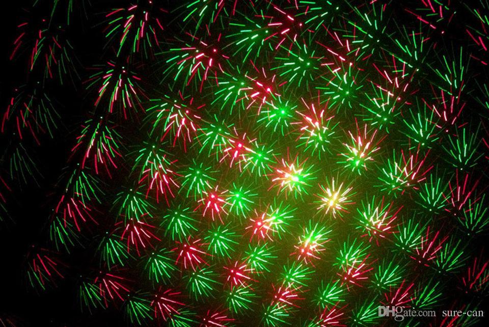 Barato aleación de aluminio portátil LED bombilla música Etapa láser Luces Ajuste de iluminación Fiesta de DJ Club de bodas en casa Proyector Babysbreath