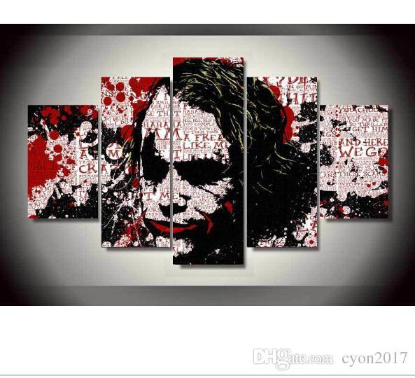 Искусство Бэтмен Джокер холст искусство живопись на холсте украшения комнаты картина плакат печать холст