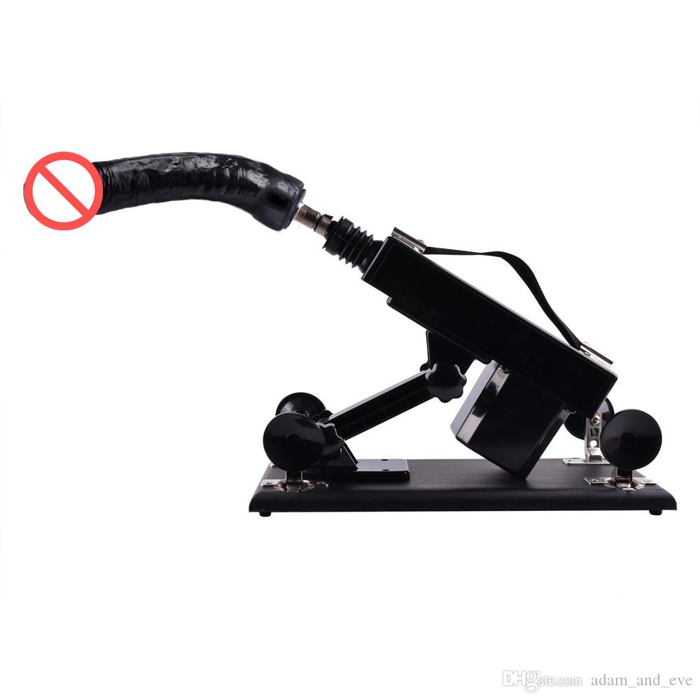 Mise à niveau des machines de sexe abordables pour les femmes Machine automatique de robot de fabrication de l'amour de masturbation avec les énormes jouets sexuels de vibration de gode de noir