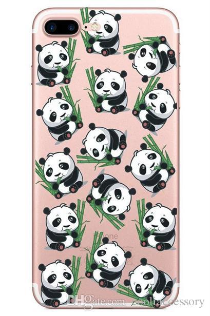 Panda Donuts Ice Cream Soft TPU Case For Iphone 7 PLUS I7 7PLUS 6 6S SE 5 5S Cartoon Letter Bear Silicone Phone Shop Sweet Skin Cover