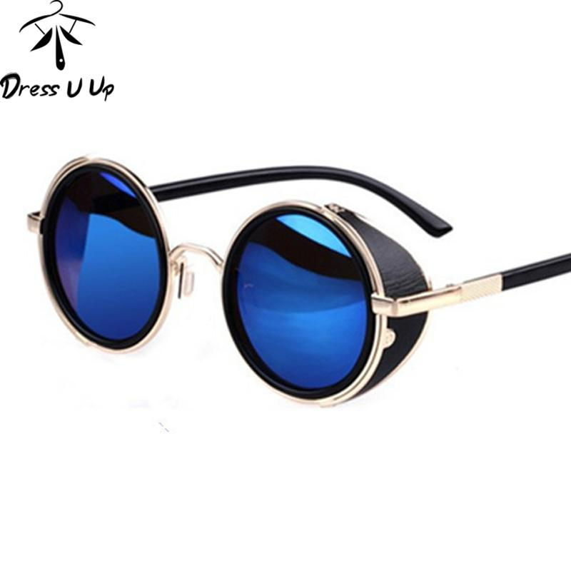 New 2017 STEAMPUNK Retro COATING Mens Vintage Round Sunglasses Men Women  Brand Designer Sun Glasses Gafas Oculos De Sol Feminino Bolle Sunglasses  Electric ... b2b1da745d