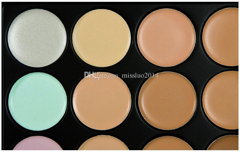 Профессиональная корректирующая палитра 15 цветов Уход за лицом крем для лица Камуфляжная основа для макияжа Палитры Косметика с подарком через DHL / FEDEX / UPS / TNT