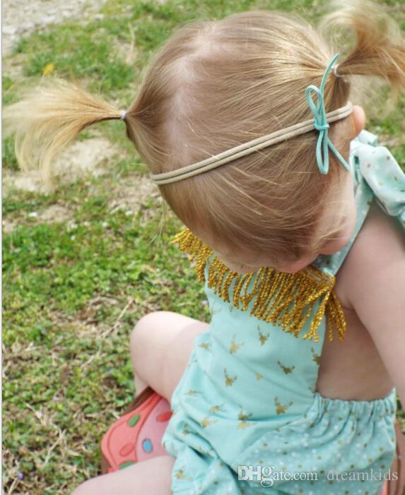 Newborn Headband Bowknot Nylon Elastic Headbands Newborn Kids Headwear Hair Bands Accessories