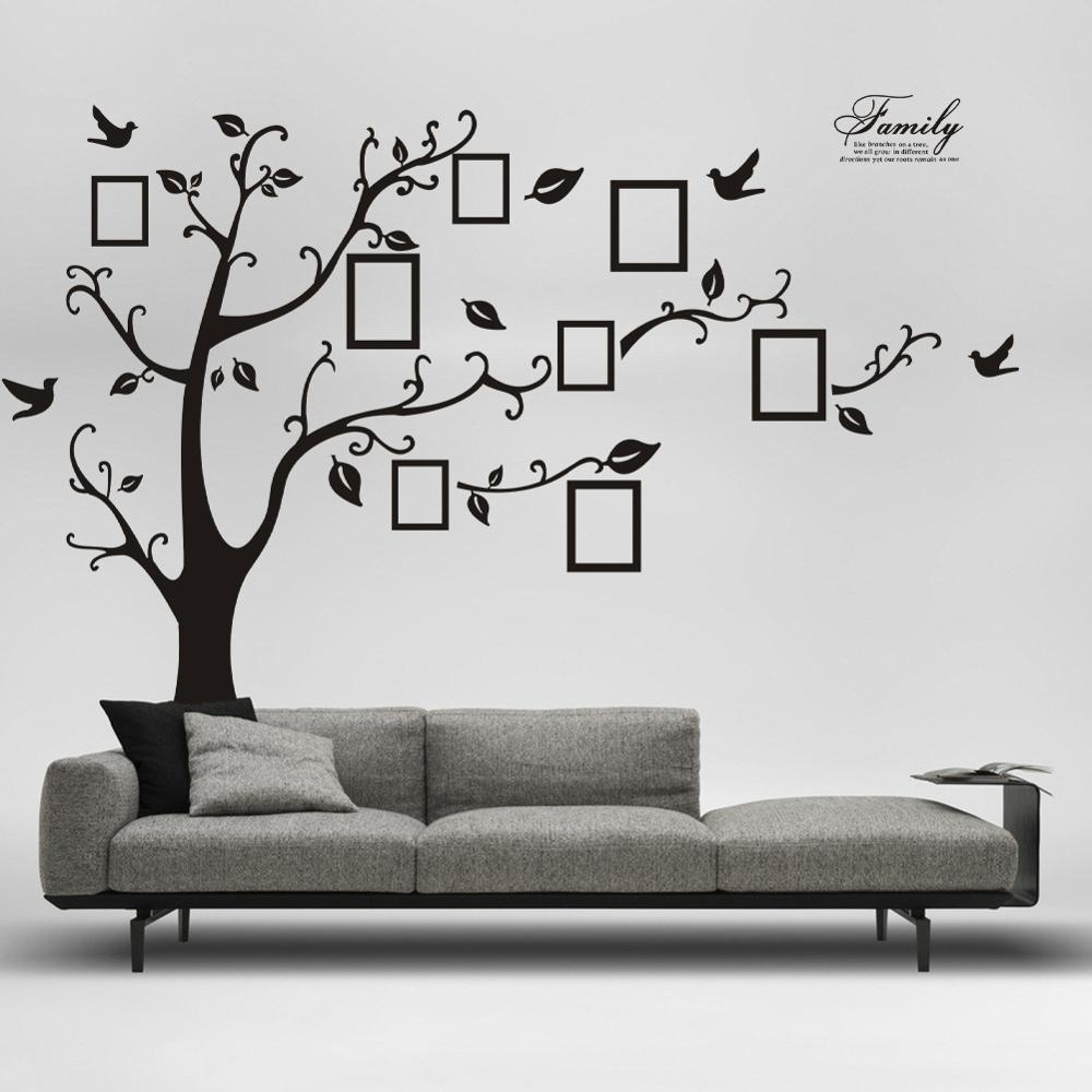 250x200cm Pvc Large Photo Wall Photo Frame Wall Stickers Sticker Furniture  Bedroom Decorative Background Wallpaper Photo Tree Stickers My Wall Tattoos  Name ...