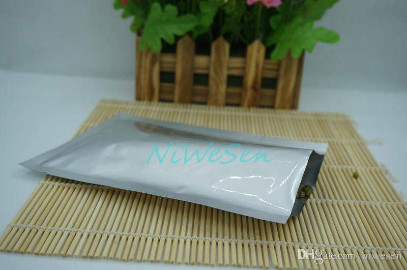 / farina sacs, 5x11cm argent blanc pur plat sacs en aluminium-crème glacée poche de placage de la chaleur haut ouvert scellable, sacs de bonbons au détail