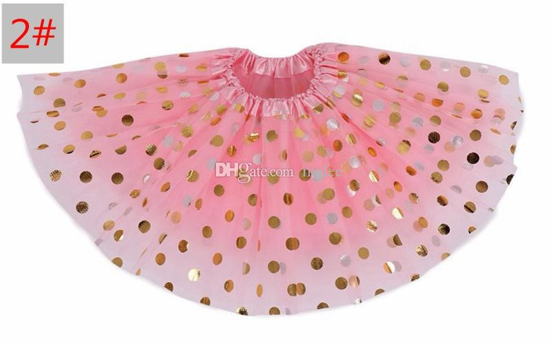 INS girls gold polka dot tutu skirt baby christmas tutus kids tutu skirts toddler skirts red infant pettiskirt newborn photography props