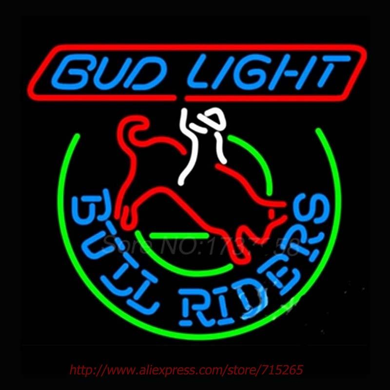 2018 Wholesale Bud Light Bull Riders Neon Sign Store Display Handcrafted  Neon Bulbs Shop Professional Display Real Glass Neon Pub Signs Vd24x21 From  ...