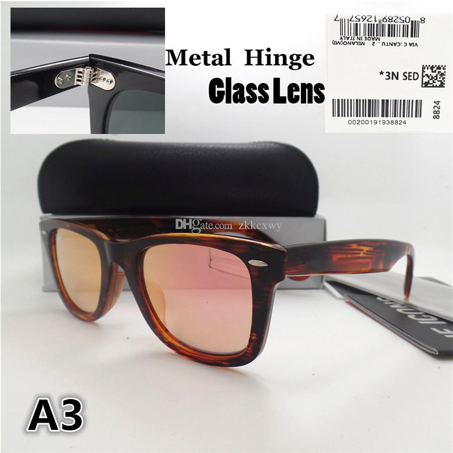 High quality Metal hinge Glass lens Plank frame Fashion Men Women Sunglasses Sport Vintage Sun glasses With box
