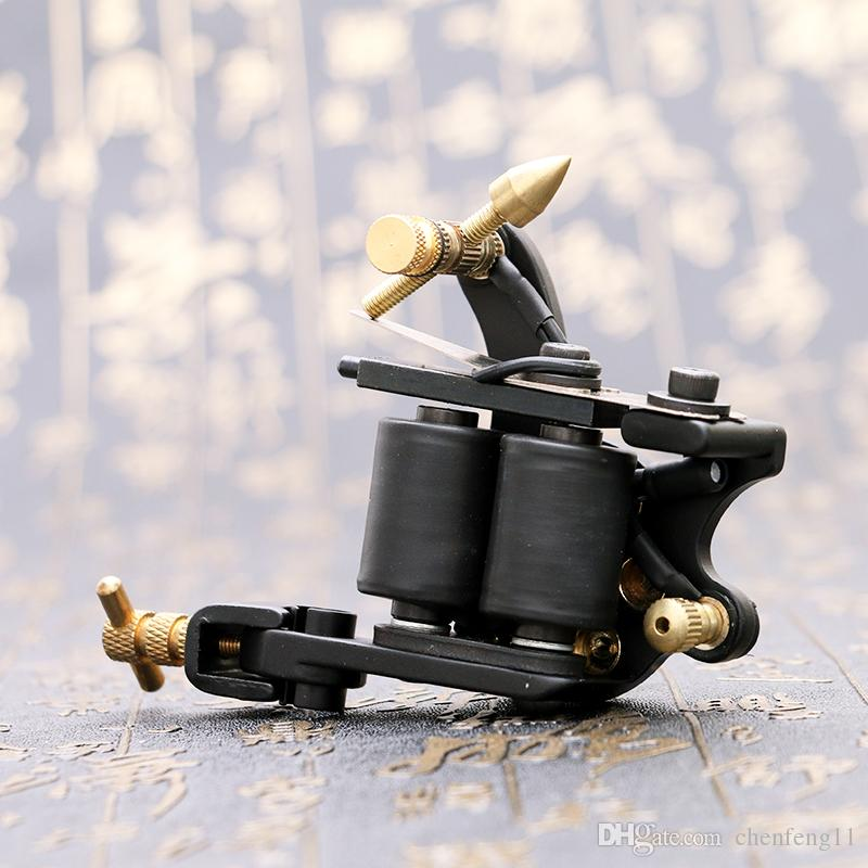 Professional Compass Black Tattoo Machine Shader & Liner Steel Frame Copper Coils Tattoo Gun TM2381