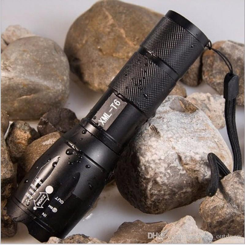 Professional 3800LM XML-T6 LED Flashlight High quality 5 Modes Zoomable  lanterna Torch Lighting