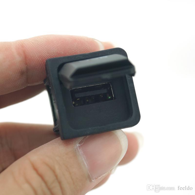 FEELDO OEM RCD510 RNS315 Cavo USB con interruttore VW Golf MK5 MK6 VI 5 6 Jetta CC Tiguan Passat B6 Posizione bracciolo # 1698