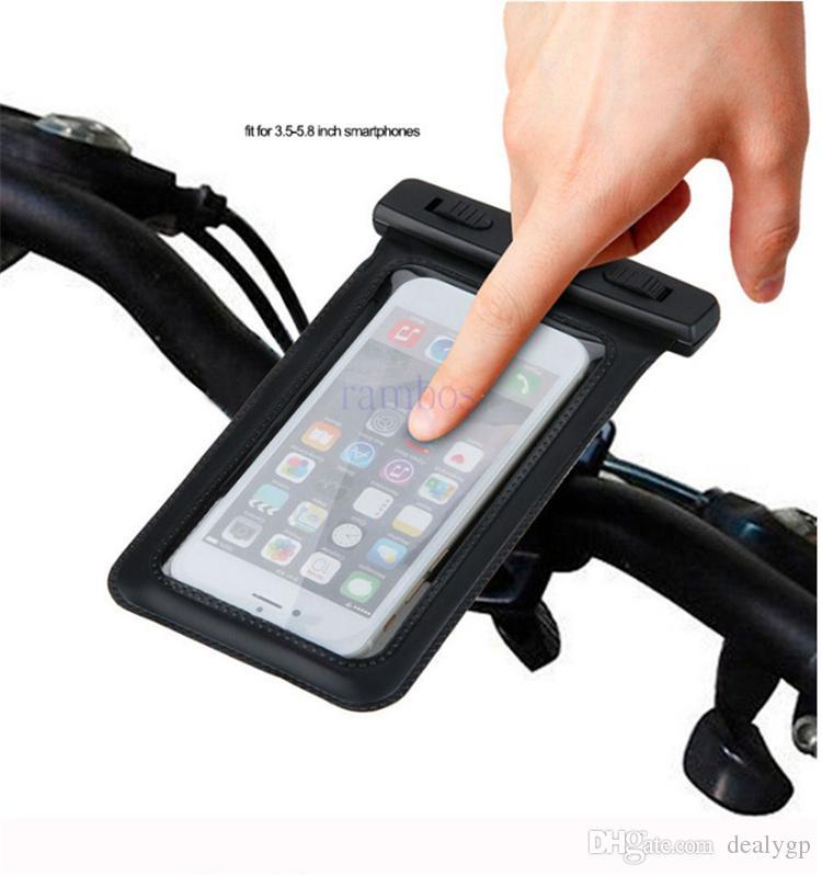 Universal Bike Bicycle Handlebar Mobile Phone Case Mount Phone Holder Waterproof Cover Bag for iphone 7 plus