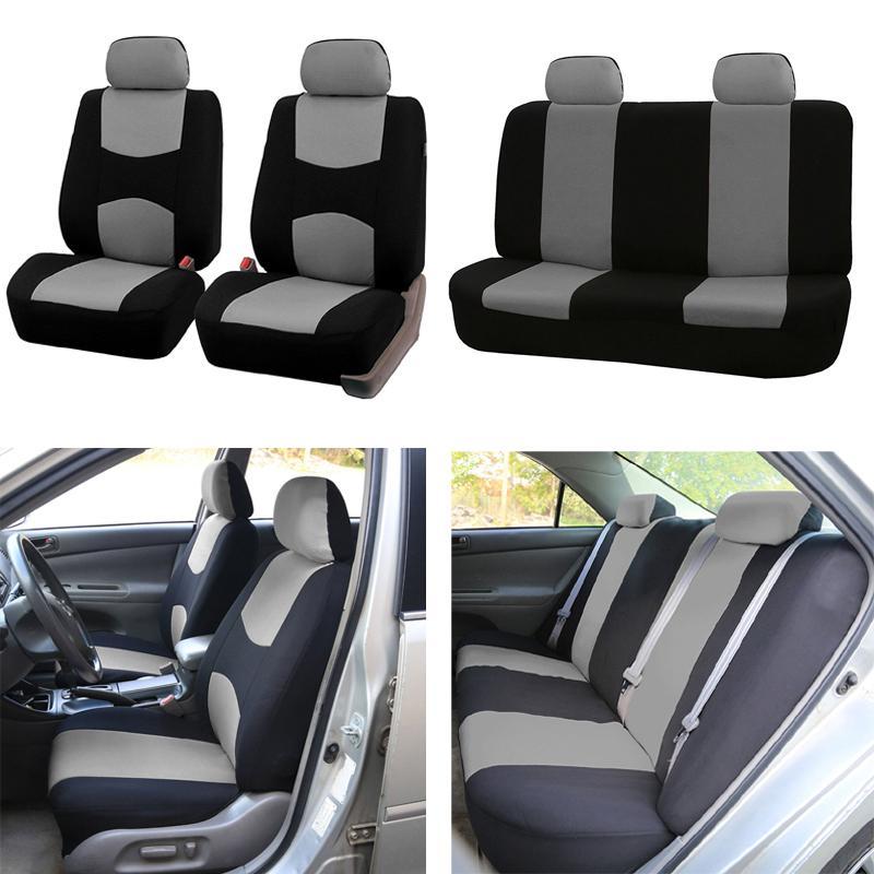 Conjunto completo Cobertura de assento de carro Universal Fit Proteção de assento de carro Acessórios de interiores de alta qualidade Decoração de carro