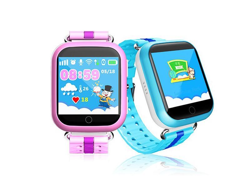 Q750 kid montre intelligente 1.54 pouces écran tactile SOS Anti-Perdu Dispositif de Suivi SOS Appel GPS Wifi Bluetooth Sim Carte Enfant Montre