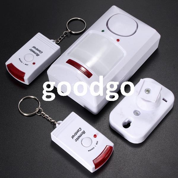 Freeshipping Portable IR Wireless Motion Sensor Detector + 2 Remote Home  Security Burglar Alarm System