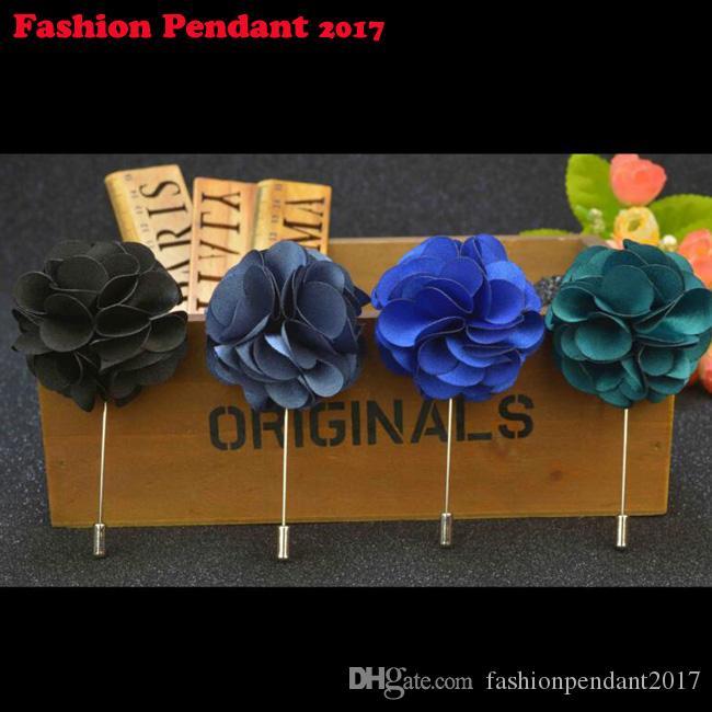 120 قطع جديد أزياء ملونة زهرة clothbrrooch دبوس الحجاب وشاح دبابيس دعوى كليب الزفاف دبوس للرجال