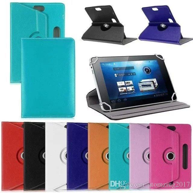Universal Cases for Tablet 360 Degree Rotating Case 10 PU Leather Stand Cover 7 8 9 10 inch Fold Flip Covers Built-in Card Buckle for iPad