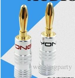 DHL /FEDEX High Quality Nakamichi 24K Gold black Speaker Banana Plugs Connector you will like them