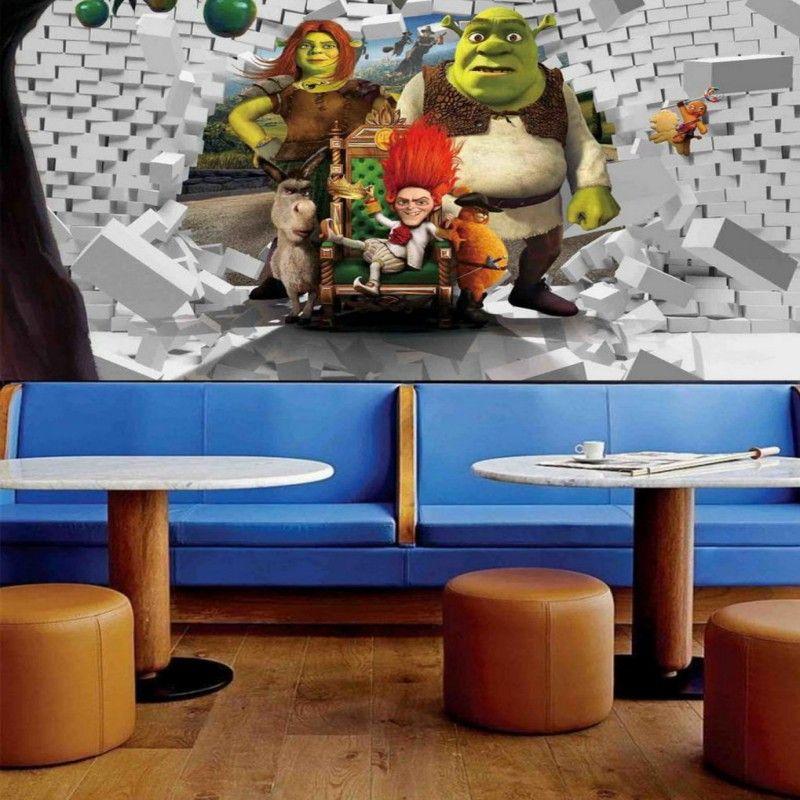3d Stereo Custom Cartoon Object Shrek Cartoon Background Wallpaper Living  Room Restaurant Bedroom Wallpaper Mural Wallpaper Images Hd Wallpaper In Hd  From ... Part 76