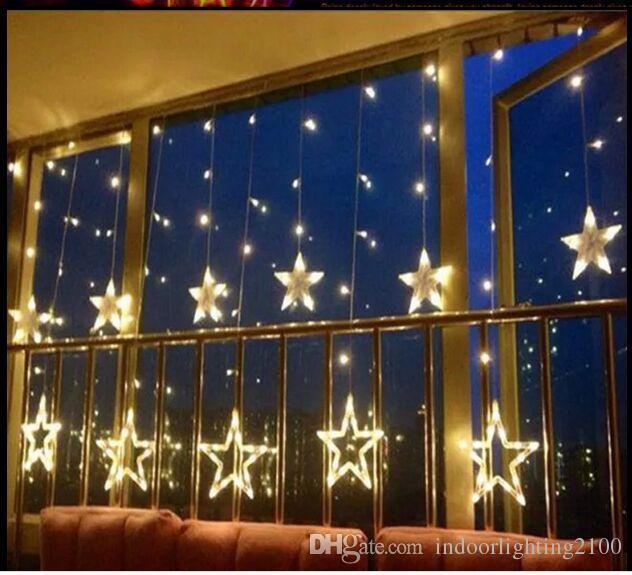 Acheter 220v Led Cordes Etoiles Rideau Lumieres Lampe Noel Barre De